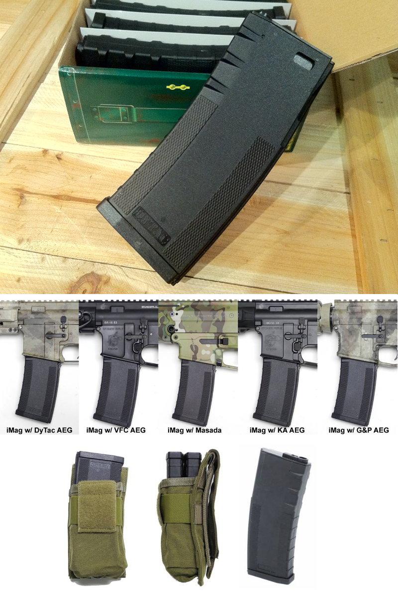 Chargeur Mid-cap Pmag 120bbs noir M4 DY-MAG02V-BK%20%20%20120rd%20Invader%20Mag%20for%20M4%20AEG%205pcs%20Value%20Pack%20a