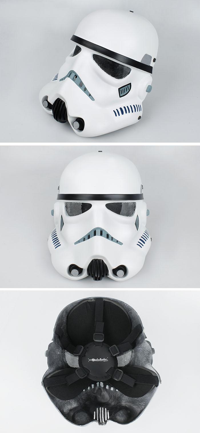 Star Wars White Mask Fma Wire Mesh Star Wars White